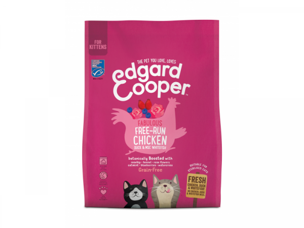 Edgard & Cooper Kittenvoer Verse Scharrelkip, Scharreleend en Witvis