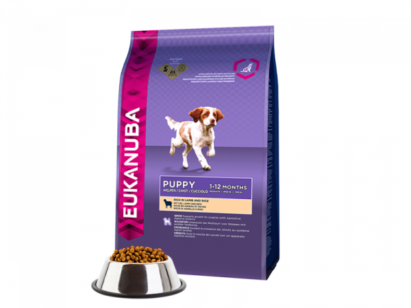 Eukanuba Puppy Lamb Rice 12 kg