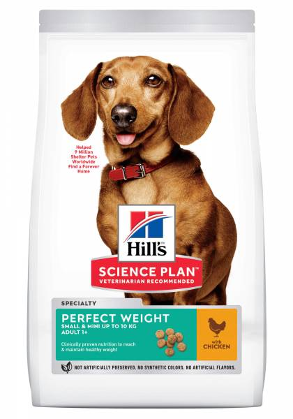Hill's Science Plan Perfect Weight Small & Mini Adult Hondenvoer Kip