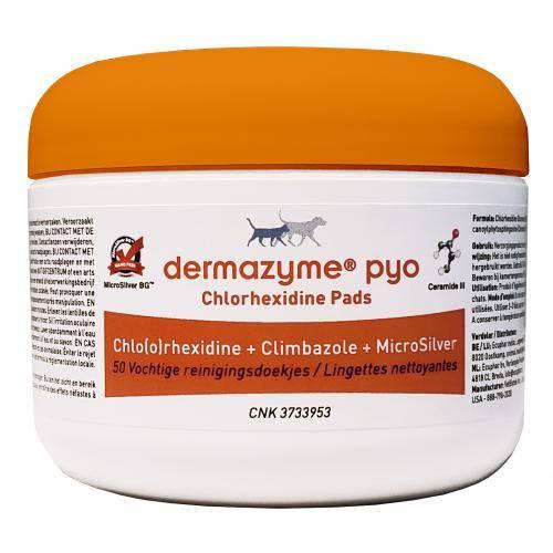 Dermazyme Pyo Chloorhexidine Pads 50 stuks