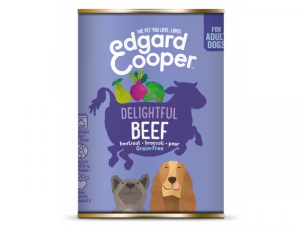 Edgard & Cooper Adult Hondenvoer Blikjes Rund 6 x 400 gram