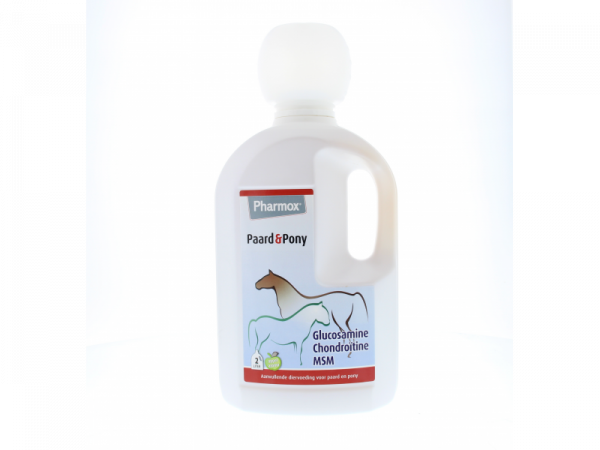 Pharmox Dr Horse Gewricht Glucosamine Chondroitine MSM Paard Pony 2000 ml