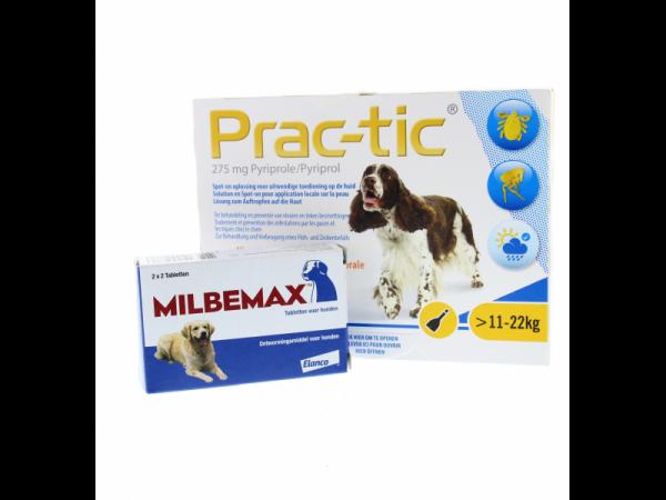 Milbemax Combi Prac-tic Teek Vlo Worm Hond