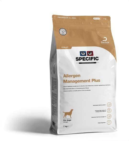 Specific Allergy Management Plus COD-HY hond