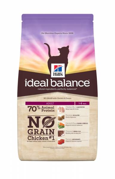 Hill's Ideal Balance Feline Adult No Grain Chicken & Potatoes 1.5 kg