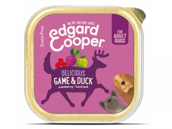Edgard & Cooper Adult Kuipjes Wild en Eend 11 x 150 gram