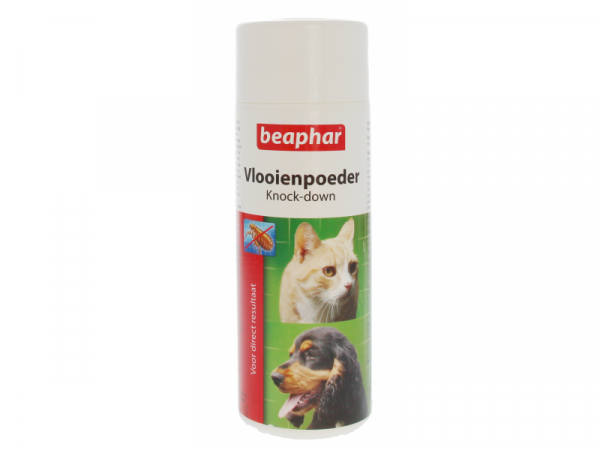 Beaphar Vlooienpoeder Knock-Down Hond/Kat 80 gram
