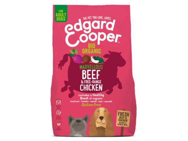 Edgard & Cooper Adult Hondenvoer Biologisch Vers Rund en Verse Kip
