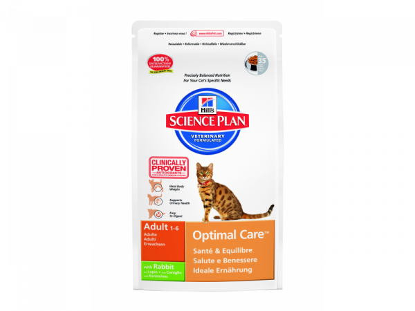 Hill's Science Plan Feline Adult Optimal Care with Rabbit 10 kg