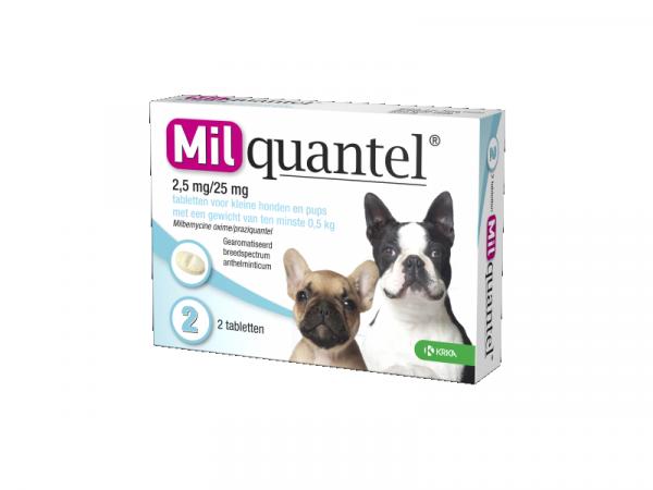 Milquantel Ontwormingstablet Kleine Hond en Puppy
