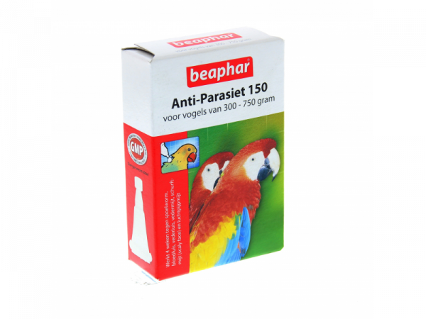 Beaphar Anti Parasiet Vogels 150 Vogel 2 pipetten