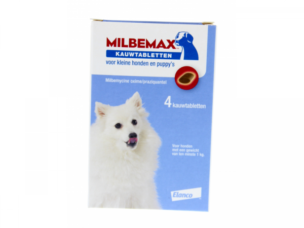Milbemax Smakelijke Kauwtablet Kleine Hond Pup Ontwormen