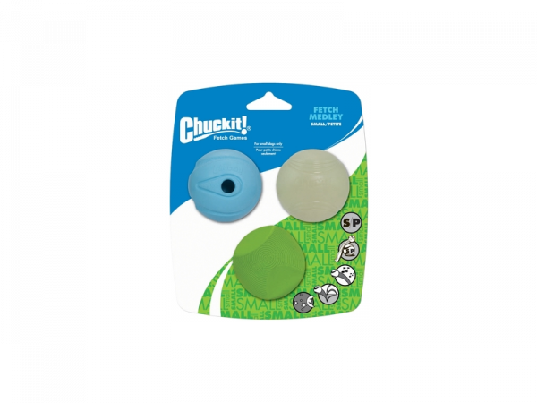 Chuckit Fetch Medley Small 3-Pack