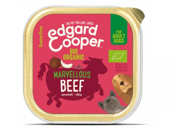 Edgard & Cooper Adult Hondenvoer Biologisch Kuipjes Rund 17 x 100 gram