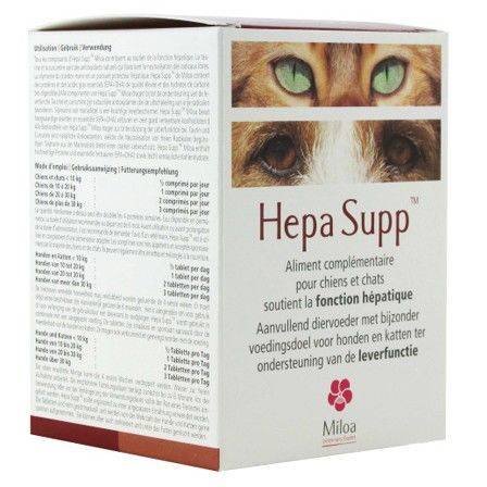 Hepa Supp Miloa Lever Hond Kat 30 tabletten