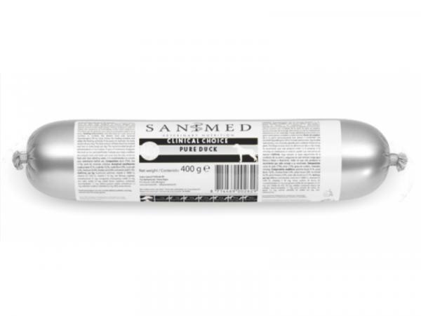 Sanimed Clinical Choice Pure Duck Hond Worst 5 x 400 gram