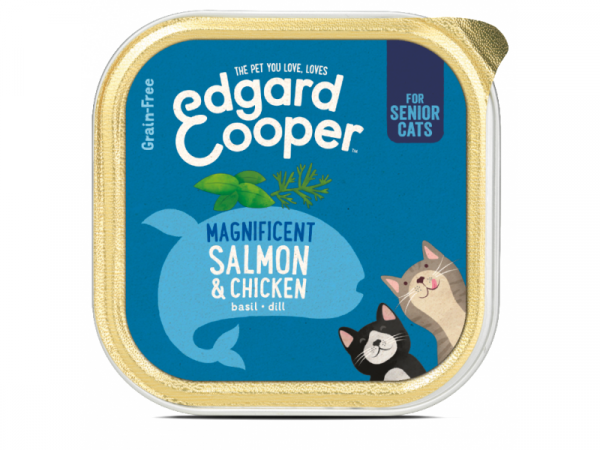Edgard & Cooper Senior Kuipjes Kip en Zalm 19 x 85 gram