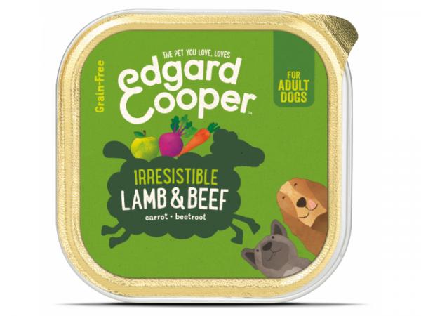 Edgard & Cooper Adult Hondenvoer Kuipjes Lam en Rund 11 x 150 gram