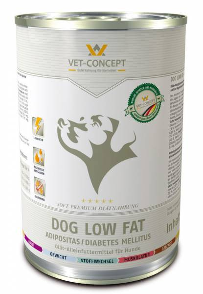 Vet-concept Hondenmenu Low Fat 6 x 400 gram